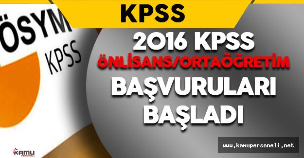 2016 KPSS/Ön Lisans ve Ortaöğretim Başvuru Kılavuzu Yayımlandı