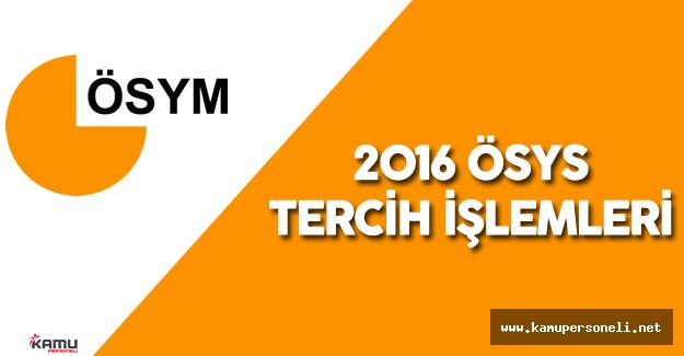 2016: ÖSYS Tercih İşlemleri Ne Zaman Başlayacak?  - 2016 ÖSYS Kontenjan ve Tercih Kılavuzu