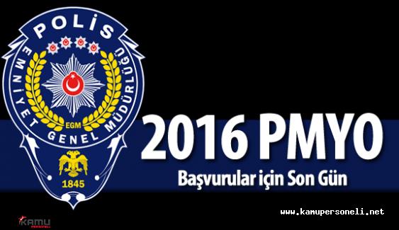 2016 PMYO 2500 Polis Adayı Alımı Başvurular Sona Eriyor