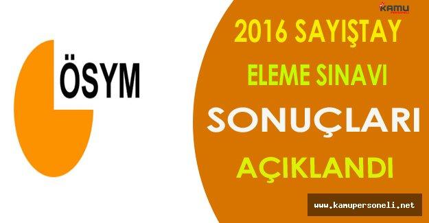 2016 Sayıştay Eleme Sınavı Sonuçları Açıklandı !