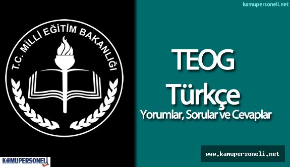 2016 TEOG Türkçe Sınavı Soruları ve Cevapları ( Öğrenci Yorumları  , Kolay Mıydı? , Zor Muydu? )