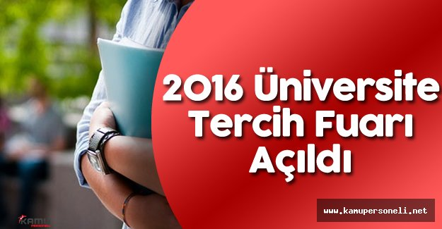 2016 Üniversite Tercih Fuarı Açıldı