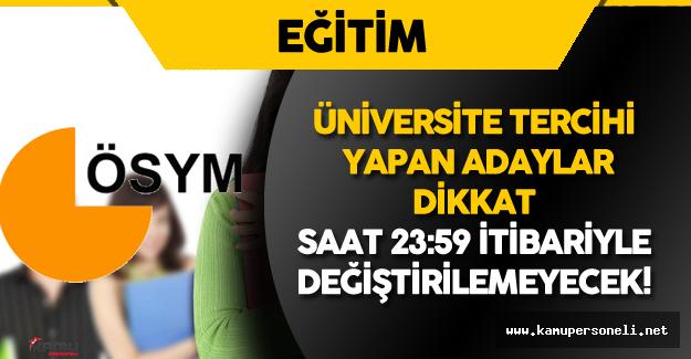 2016 Üniversite Tercihi Yapan Adaylar Dikkat! Son Güne Girildi!