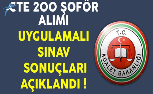 Adalet Bakanlığı CTE 200 Kadrolu Şoför Alımı Sözlü Sınav Duyurusu Yayınlandı !