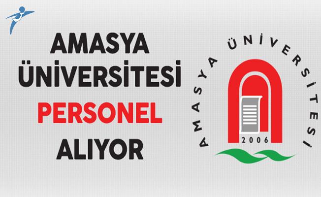 Amasya Üniversitesi Personel Alıyor