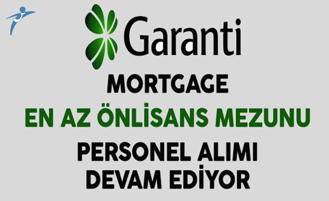Garanti Mortgage En Az Önlisans Mezunu Personel Alımı Devam Ediyor