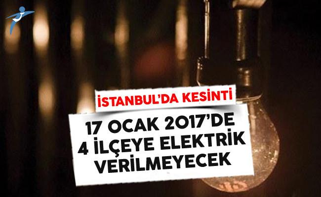 İstanbul'un 4 İlçesinde Elektrik Kesintisi Yaşanacak