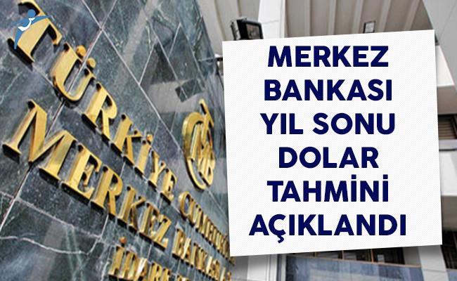 Merkez Bankası Yıl Sonu Dolar Tahminini Açıkladı