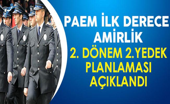 PAEM İlk Derece Amirlik (Komiser Yardımcılığı) 2. Dönem 2.Yedek Planlama Sonuçları Açıklandı !