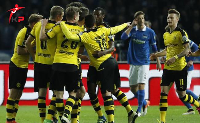 Borussia Dortmund Hertha Berlin'i Almanya Kupası'ndan Eledi!