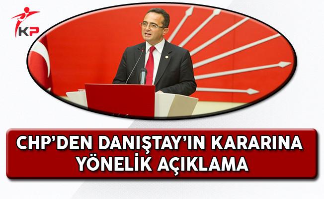 CHP Genel Başkan Yardımcısı Bülent Tezcan Danıştay'ın Ret Kararını Değerlendirdi