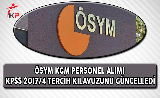 ÖSYM, KPSS 2017/4 Tercih Kılavuzunda Güncelleme Yaptı