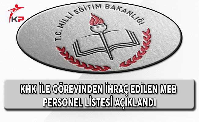 689. KHK İle Görevinden İhraç Edilen Öğretmenlerin Listesi
