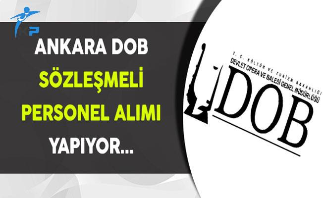 Ankara Devlet Opera ve Balesi Sözleşmeli Personel Alımı Yapıyor