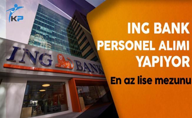 ING Bank Personel Alım İlanı (Yeni İlan)