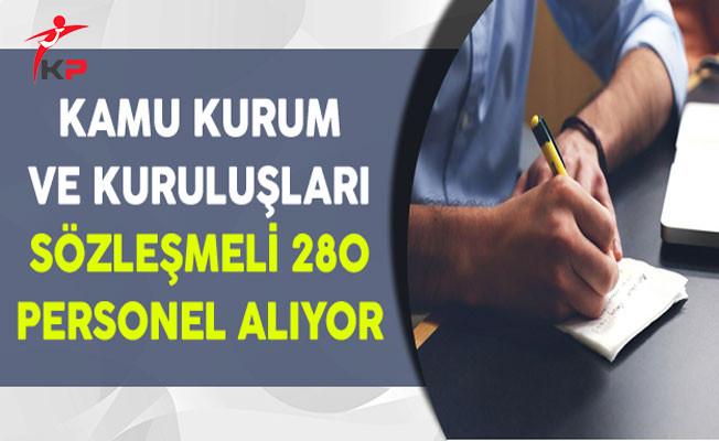 Kamu Kurum ve Kuruluşları Sözleşmeli 280 Memur Personel Alımı Yapıyor