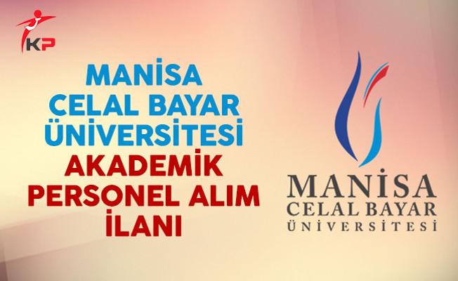 Manisa Celal Bayar Üniversitesi Akademik Personel Alım İlanı