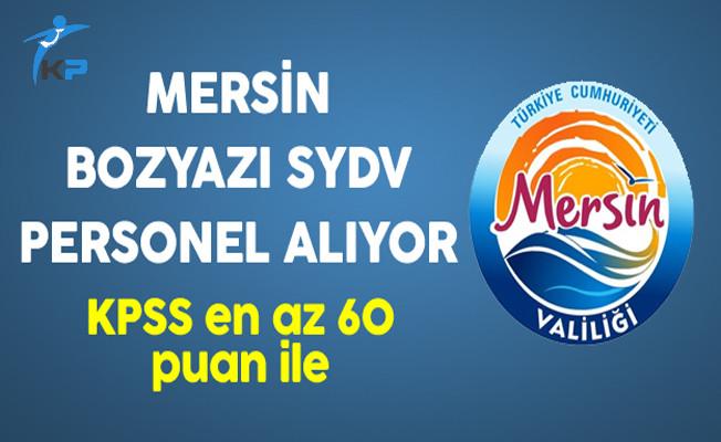 Mersin Bozyazı SYDV KPSS ile Personel Alıyor