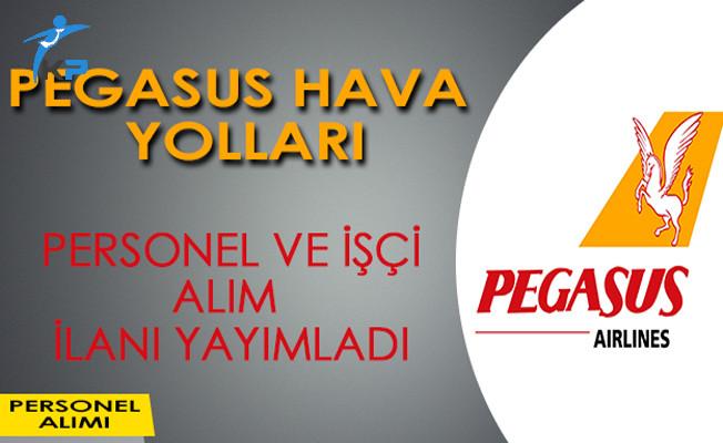 Pegasus Hava Yolları İşçi ve Personel Alım İlanı Yayımladı