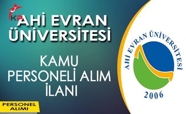 Ahi Evran Üniversitesi Kamu Personeli Alıyor