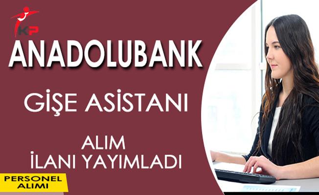 Anadolubank Gişe Asistanı Alım İlanı