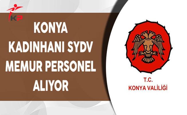 Konya Kadınhanı SYDV Memur Personel Alım İlanı