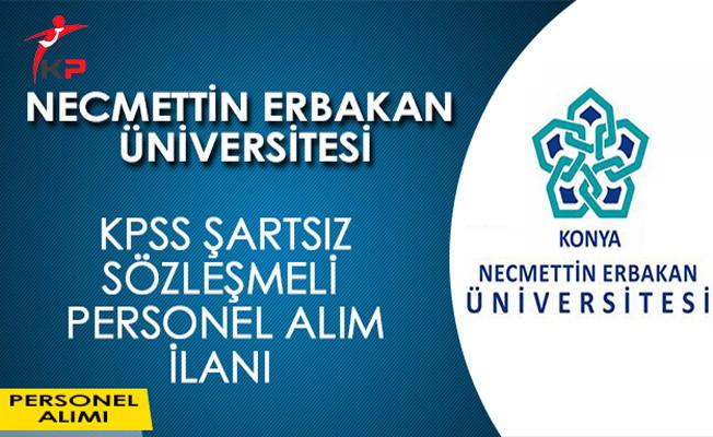 Necmettin Erbakan Üniversitesi KPSS Şartsız Sözleşmeli Personel Alım İlanı