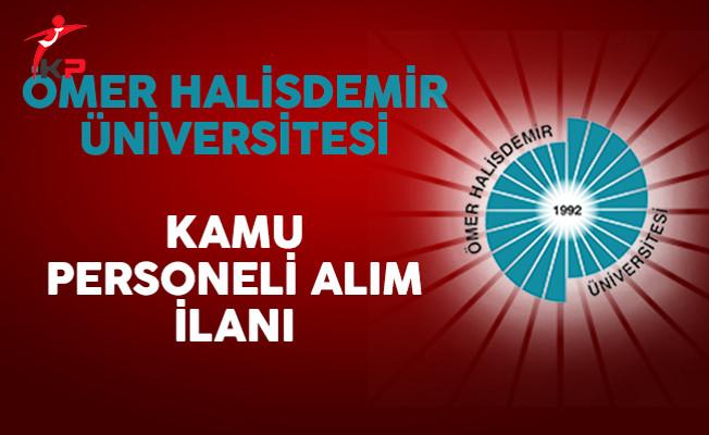 Ömer Halisdemir Üniversitesi Kamu Personeli Alım İlanı