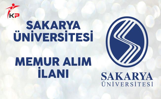 Sakarya Üniversitesi Memur Alım İlanı Yayımladı