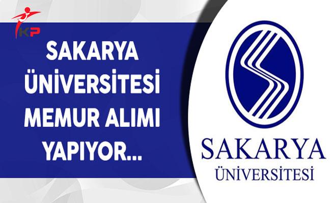 Sakarya Üniversitesi Memur Alımı Yapıyor