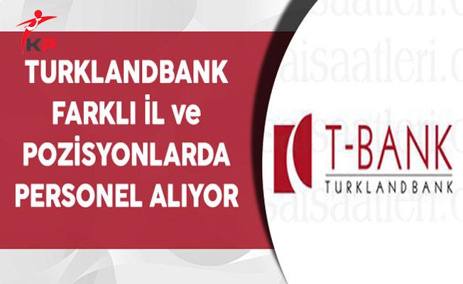 Turklandbank Farklı Kadrolarda Personel Alımı Yapıyor