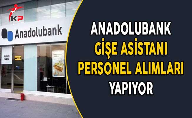 Anadolubank Gişe Asistanı Personel Alımları Yapıyor