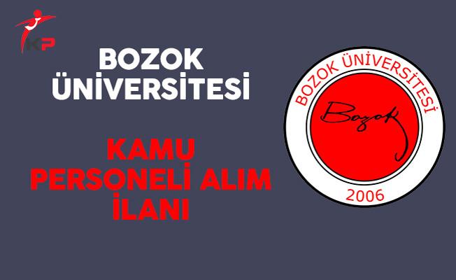 Bozok Üniversitesi Kamu Personeli Alım İlanı