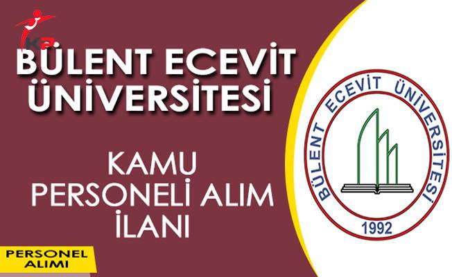 Bülent Ecevit Üniversitesi Kamu Personeli Alım İlanı