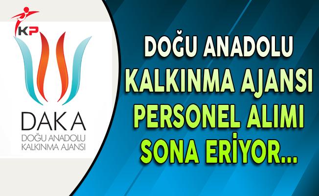 Doğu Anadolu Kalkınma Ajansı Personel Alım Süreci Sona Eriyor