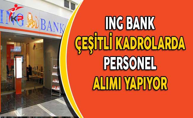 ING Bank Çeşitli Kadrolarda Personel Alıyor