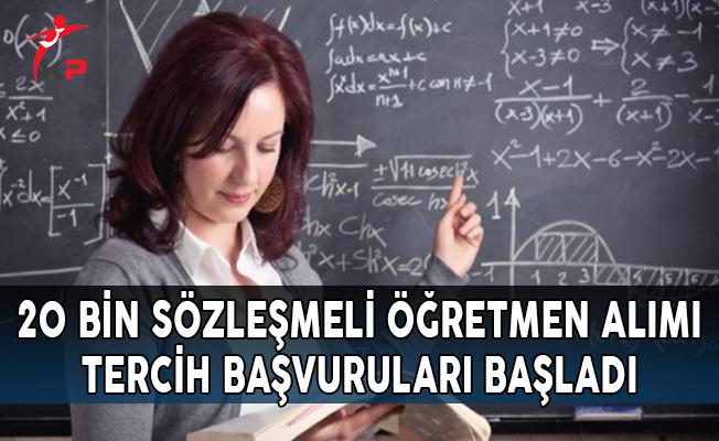 MEB 20 Bin Sözleşmeli Öğretmenlik Tercih Başvurularına İlişkin Atama Ekranı Açıldı !