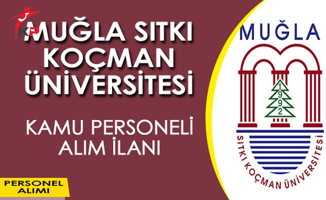 Muğla Sıtkı Koçman Üniversitesi Kamu Personeli Alım İlanı