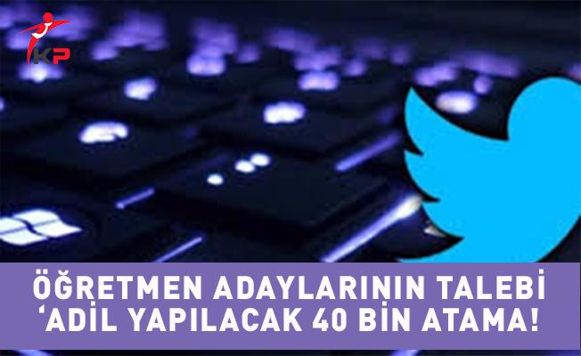 Öğretmen Adayları Adil 40 Bin Atama Talep Ediyor!