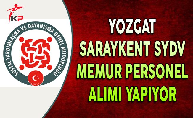 Yozgat Saraykent SYDV Memur Personel Alıyor