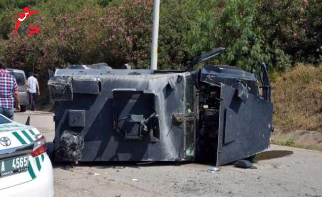 Mardin'de Talihsiz Kaza ! Zırhlı Araç Devrildi 2 Polis Yaralandı