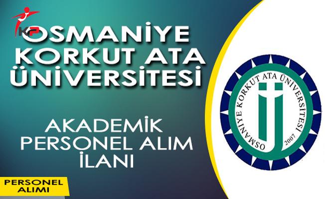 Osmaniye Korkut Ata Üniversitesi Öğretim Üyesi Alım İlanı