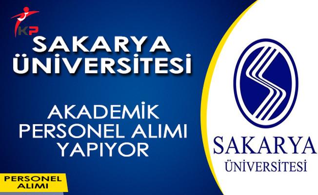 Sakarya Üniversitesi Akademik Personel Alımı Yapıyor