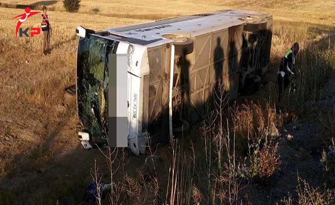 Son Dakika ! Kayseri'de Otobüs Kazası: Çok Sayıda Yaralı Var