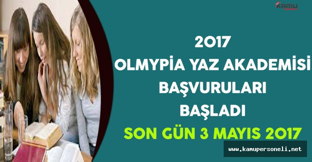 2017 Olympia Yaz Akademisi Başvuruları Başladı