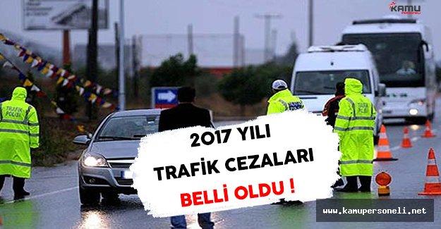 2017 Yılında Geçerli Olacak Trafik Cezaları Belli Oldu