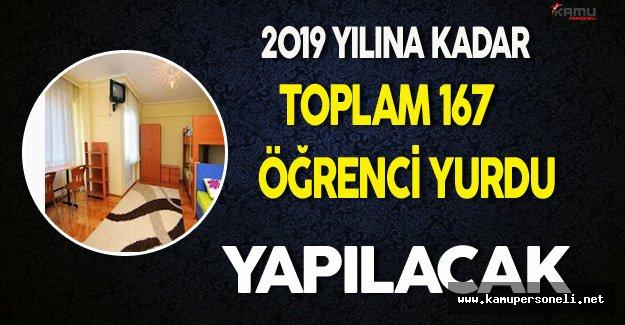 2019 Yılına Kadar Toplam 167 Öğrenci Yurdu Yapılacak