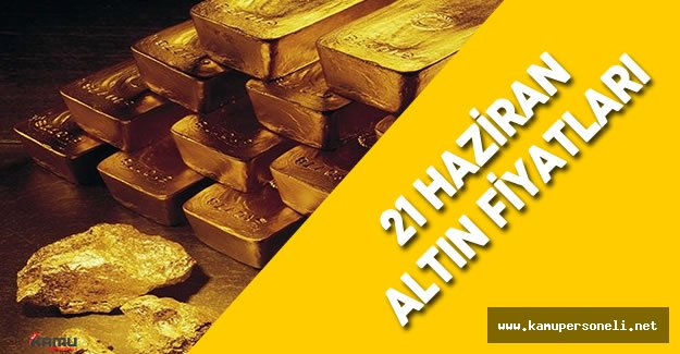 21 Haziran 2016 Altın Fiyatları ( 24 Ayar Külçe, 22 Ayar Bilezik Fiyatları, Tam , Yarım, Çeyrek Altın fiyatı)