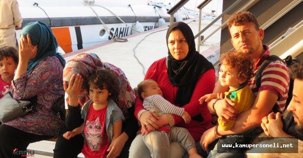 22 Suriyeli Sığınmacı Sahil Güvenlik Tarafından Kurtarıldı