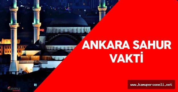 24 Haziran 2016 Ankara Sahur Vakti - Sahur Duası